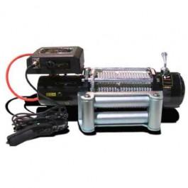 Cabestrante Bullface 12000 libras 12V cable de acero