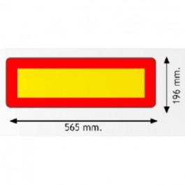 Kit 2 placas señal V6 corta 565 x 200 mm.