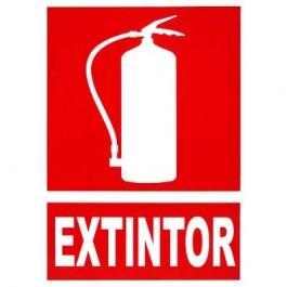 Placa señalizacion extintor