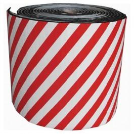 Protector de garaje ignífugo en bobina. Color rojo / blanco